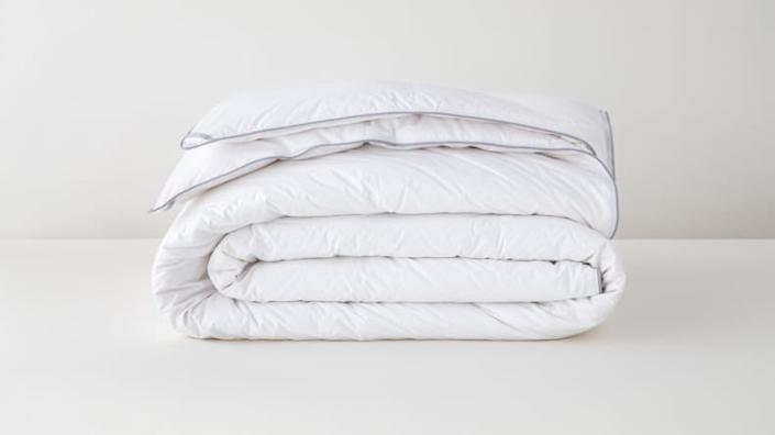 Tuft & Needle's Down Duvet Insert is purposefully oversized, making it all the more cozy.
