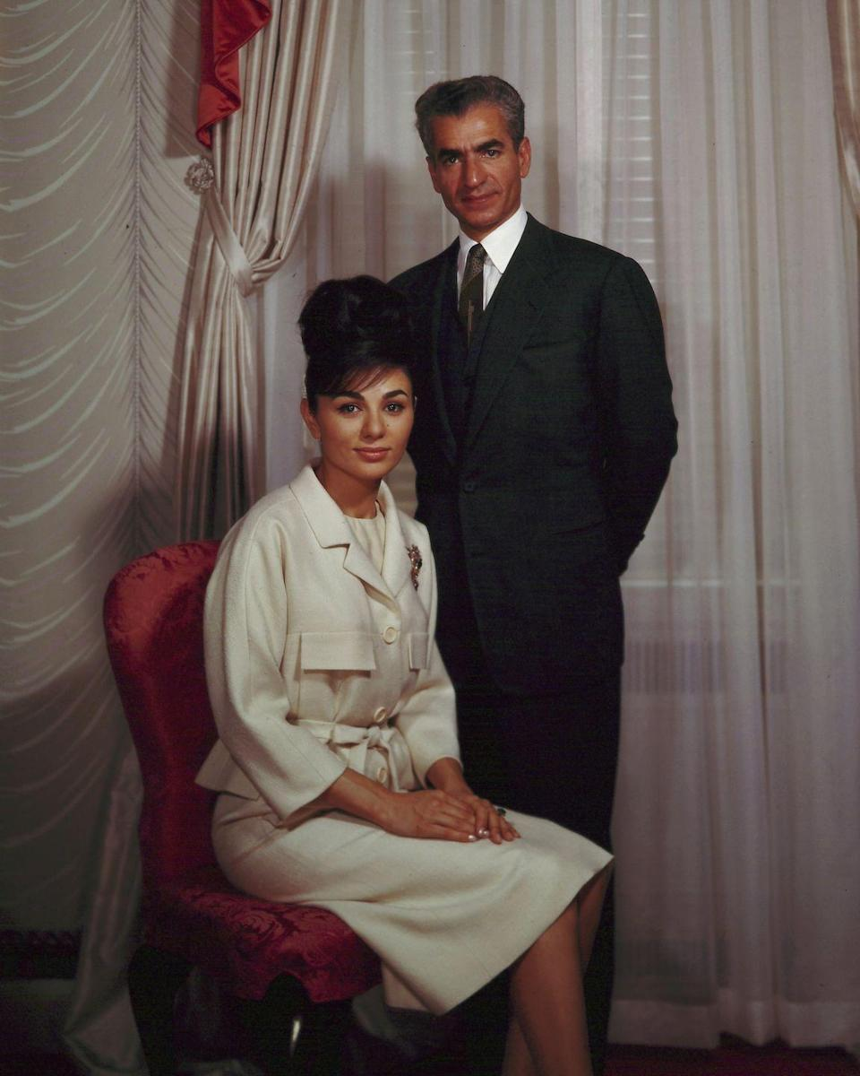 <p>Diba (more commonly known as Empress Farah Pahlavi) became the third wife of the Shah at 21 years old when they married in 1959 — just one year after he and Queen Soraya divorced. Although she came from an affluent background and diplomatic family, the Empress had no previous ties to royalty. An Iranian native, she studied architecture in Paris, where she later met the Shah. </p>