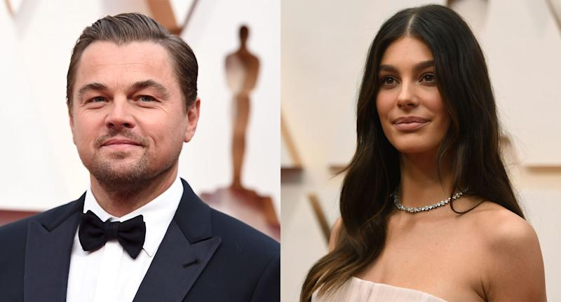Leonardo DiCaprio brought girlfriend Camila Morrone along to the Oscars. (Jordan Strauss/Invision/AP. Richard Shotwell/Invision/AP)