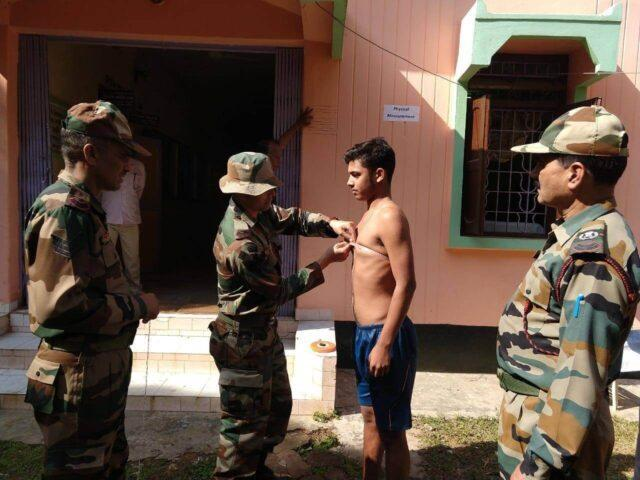 Pre-Induction PFT in the Indian Army