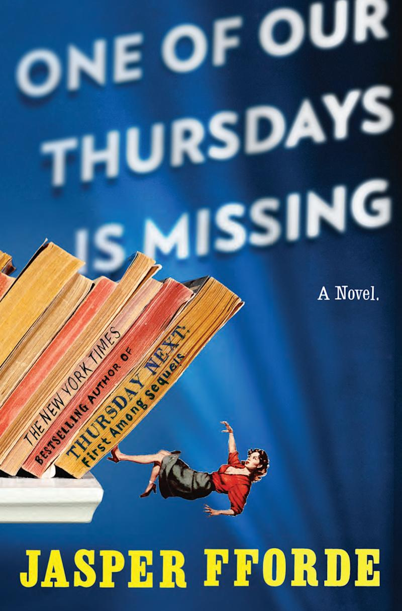 """In this book cover image released by Penguin Group, """"One of Our Thursdays is Missing"""" by Jasper Fforde, is shown. (AP Photo/Penguin Group)"""