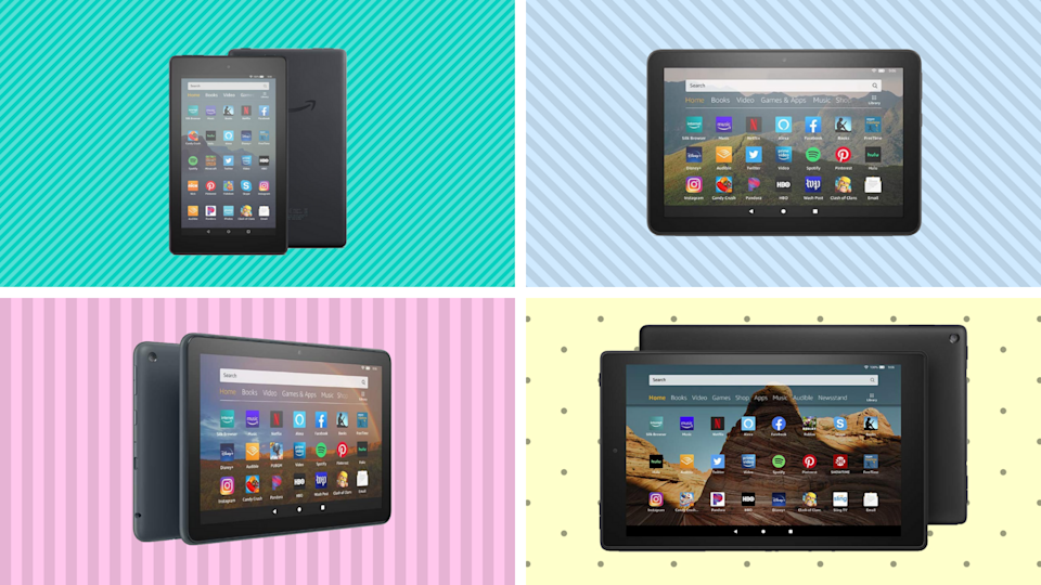 Amazon's Fire tablets are on sale for a fraction of the price—starting at just $40. (Photo: Amazon)