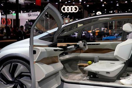 FILE PHOTO: The interior of the Audi's new concept AI: ME with automated driving system is presented during the media day for Auto Shanghai, China April 17, 2019. REUTERS/Aly Song/File Photo