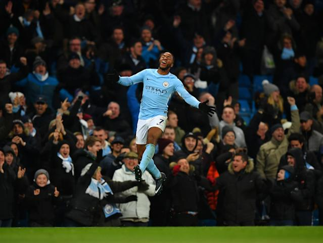 Raheem Sterling scored his third late winner for Manchester City in eight days to beat Southampton 2-1. (Getty)