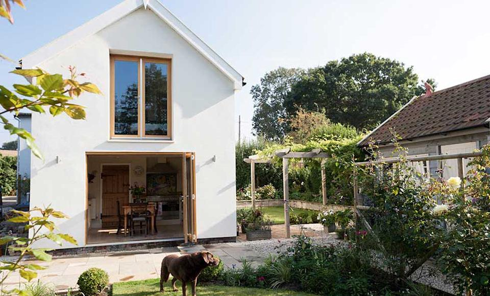 eclectic kitchen extension with antique pieces