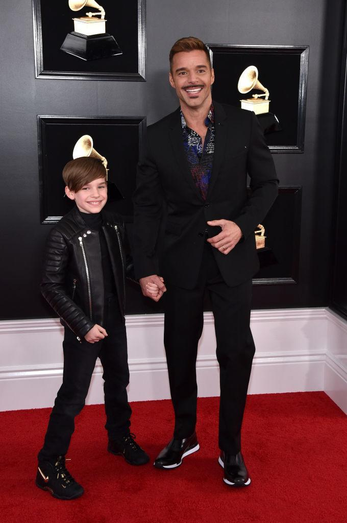 <p>Ricky Martin and his son Matteo attend the 61st annual Grammy Awards at Staples Center on Feb. 10, 2019, in Los Angeles. </p>