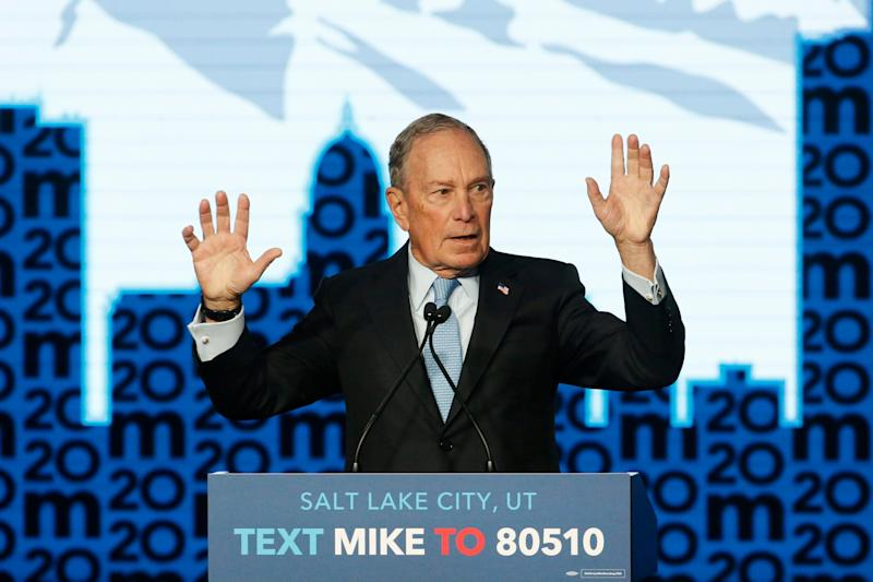 Democratic presidential candidate and former New York City Mayor Michael Bloomberg speaks during a campaign event on Feb. 20, 2020, in Salt Lake City. (Photo: AP Photo/Rick Bowmer)