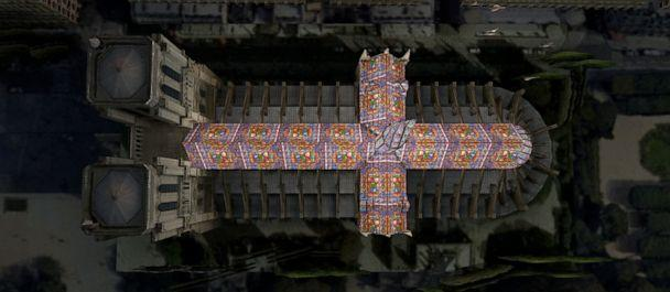 PHOTO: Brazilian architect Alexandre Fantozzi says he was celebrating Easter with his family when he thought of a roof and spire totally covered with stained-glass windows. (Alexandre Fantozzi)