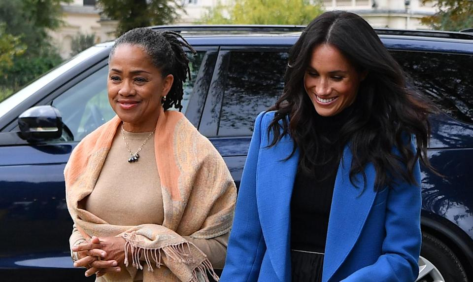 It's reported that Meghan Markle's mother Doria Ragland (pictured with the Duchess in September) will move in once her grandchild is born. [Photo: Getty]