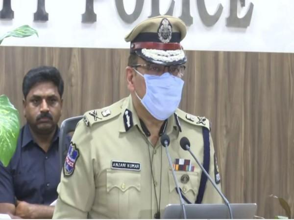 Hyderabad Commissioner Anjani Kumar during a press conference on Wednesday. (Photo/ANI)