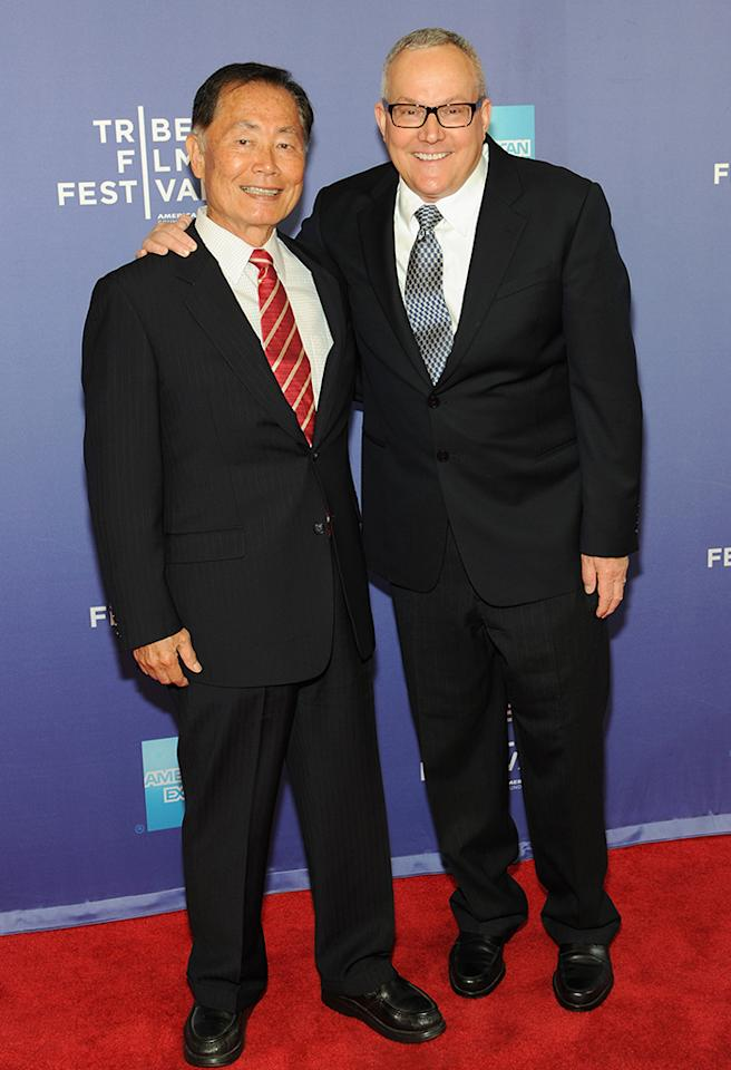 "NEW YORK, NY - APRIL 23:  Actor George Takei and Brad Takei attends the ""Bridegroom"" World Premiere during the 2013 Tribeca Film Festival on April 23, 2013 in New York City.  (Photo by Simon Russell/Getty Images for Tribeca Film Festival)"