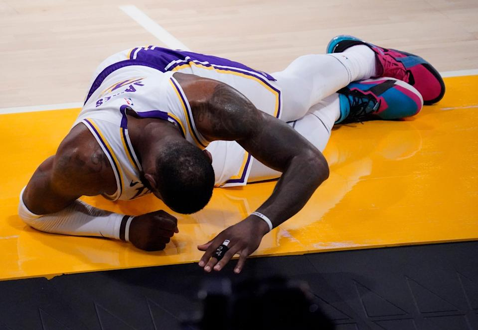Lebron was injured on March 20 against the Hawks.
