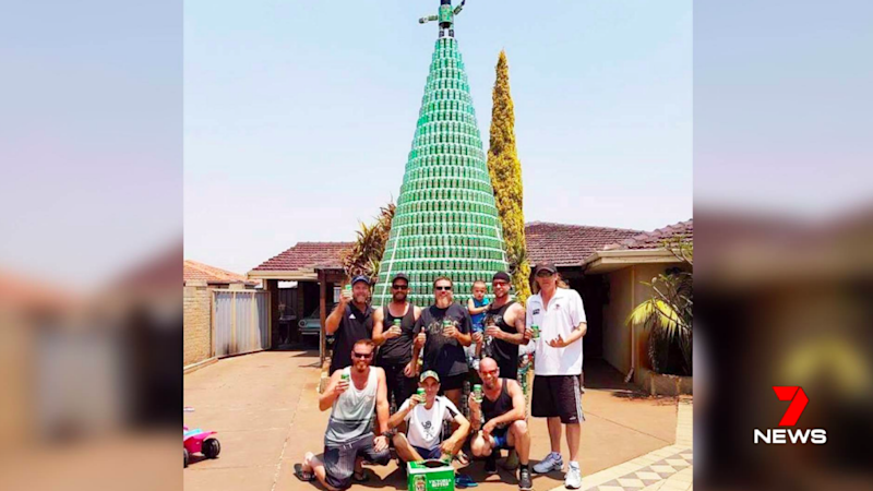 Wes Boyd made the tree and is raising funds for Alzheimer's Australia.