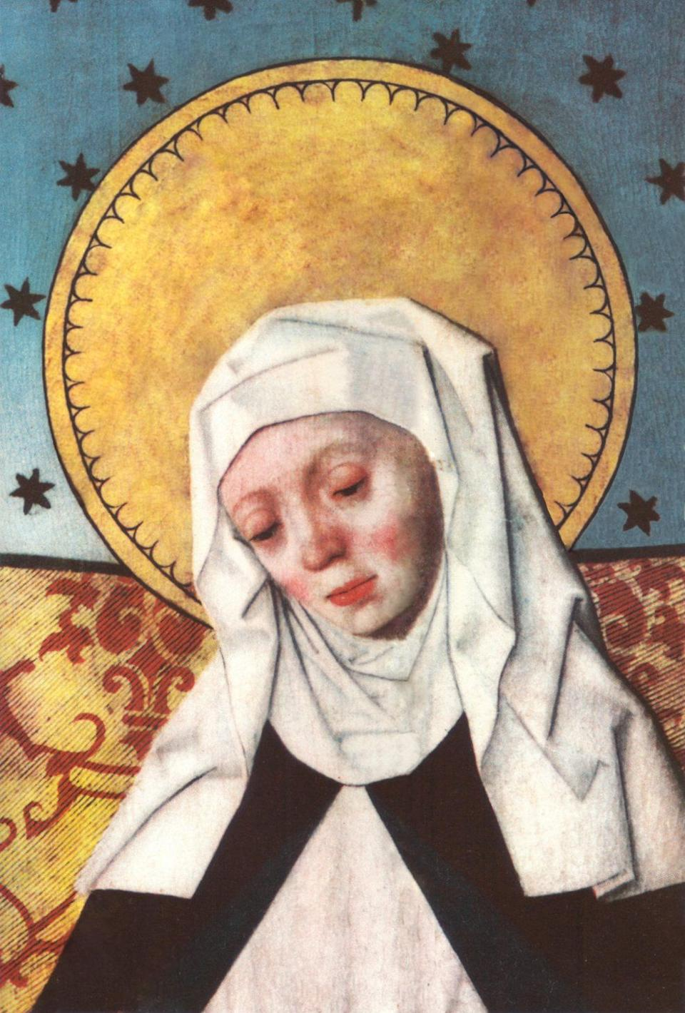 "Unlike many of her counterparts, <a href=""http://www.catholic.org/saints/saint.php?saint_id=264"">Bridget of Sweden</a> did not devote herself fully to a religious life until her 40s when her husband died in 1344. Reportedly distraught after his death, Bridget spent long hours in prayer beside her husband's grave at the abbey of Alvastra. There she believed God spoke to her, telling her to ""be my bride and my canal."" He gave her the task of founding new religious order, and she went on to start the Brigittines, or the Order of St. Saviour. Both men and women joined the community, with separate cloisters. They lived in poor convents and were instructed to give all surplus income to the poor. In 1350, Bridget braved the plague, which was ravaging Europe, to pilgrimage to Rome in order to obtain authorization for her new order from the pope. It would be 20 years before she received this authorization, but Bridget quickly became known throughout Europe for her piety. She was canonized in 1391, less than 20 years after her death."