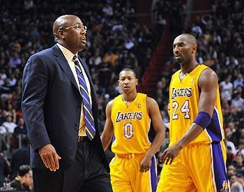New Lakers coach Mike Brown is playing Bryant an average of 38 minutes a game, an increase of four more per game than last season