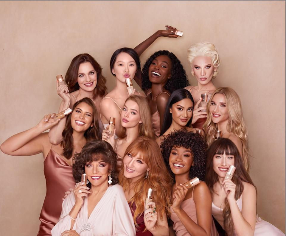 Joan Collins features alongside famous models and bloggers in the new campaign [Photo: Charlotte Tilbury]