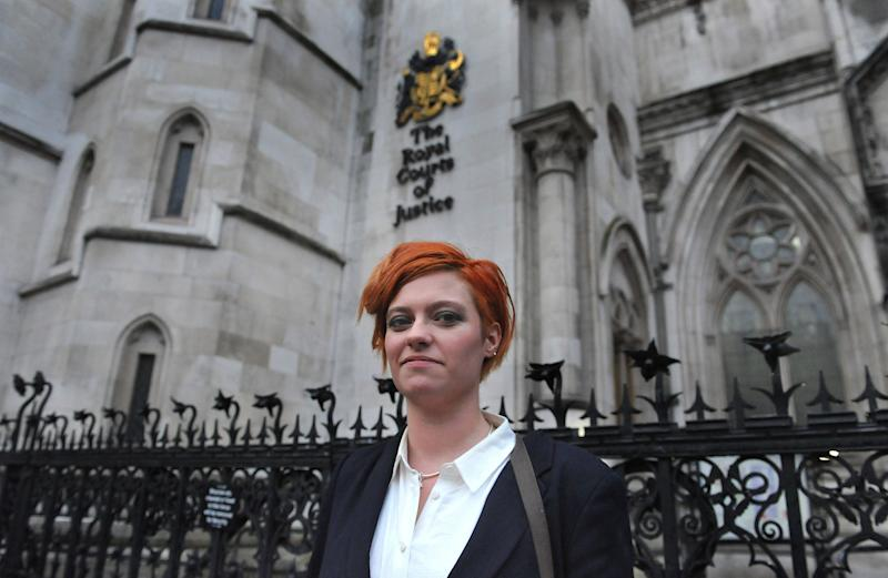 Jack Monroe outside the High Court in central London, where she sued Katie Hopkins - PA Wire/PA Images