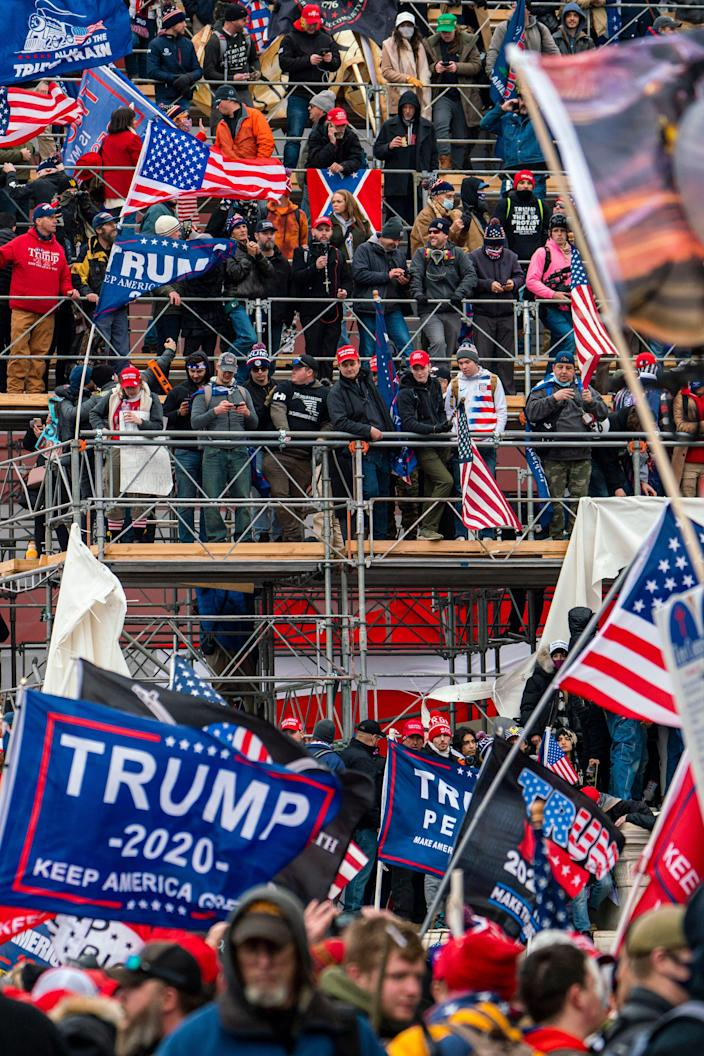 Jan 6, 2021; Washington, DC, USA; Protests in Washington, DC as the U.S. Congress meets to formally ratify Joe Biden as the winner of the 2020 Presidential election on Jan. 6, 2021.. Mandatory Credit: Jarrad Henderson-USA TODAY NETWORK ORG XMIT: USATODAY-445864 [Via MerlinFTP Drop]