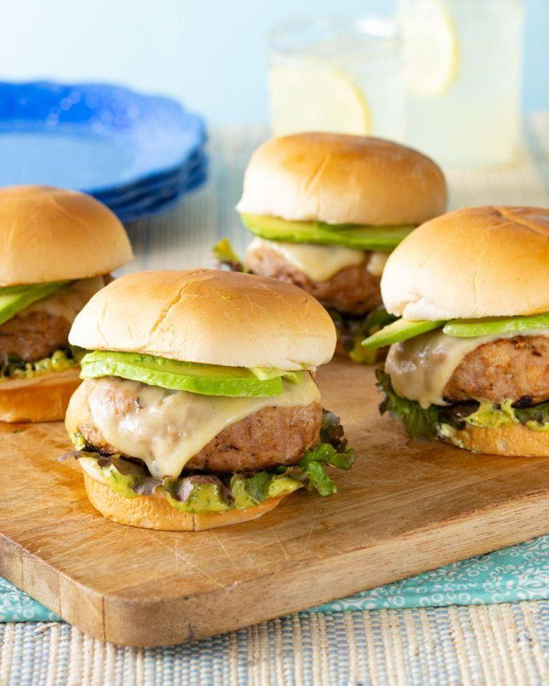 """<p>Turkey burgers are welcome year-round, but they're especially delicious during the summer months when you can whip them up outside on the grill. Thin slices of avocado add freshness here.</p><p><strong><a href=""""https://www.thepioneerwoman.com/food-cooking/recipes/a35812659/turkey-burgers/"""" rel=""""nofollow noopener"""" target=""""_blank"""" data-ylk=""""slk:Get the recipe"""" class=""""link rapid-noclick-resp"""">Get the recipe</a>.</strong></p><p><a class=""""link rapid-noclick-resp"""" href=""""https://go.redirectingat.com?id=74968X1596630&url=https%3A%2F%2Fwww.walmart.com%2Fbrowse%2Fhome%2Fserveware%2Fthe-pioneer-woman%2F4044_623679_639999_2347672&sref=https%3A%2F%2Fwww.thepioneerwoman.com%2Ffood-cooking%2Fmeals-menus%2Fg32188535%2Fbest-grilling-recipes%2F"""" rel=""""nofollow noopener"""" target=""""_blank"""" data-ylk=""""slk:SHOP PLATTERS"""">SHOP PLATTERS</a></p>"""