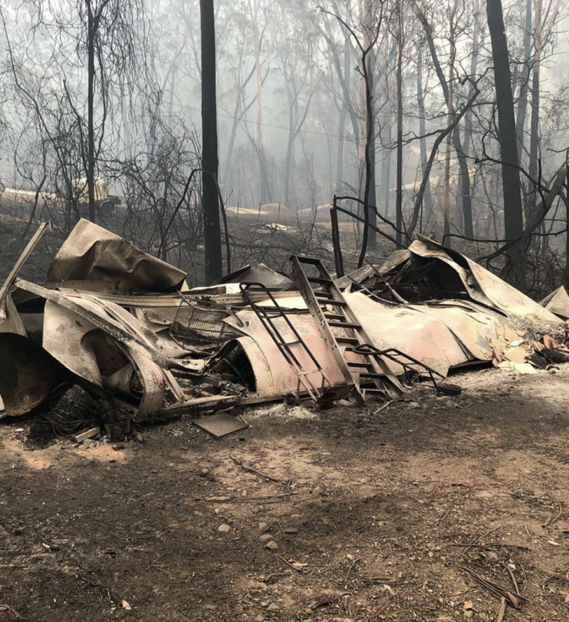 Love Island star Grant Crapp's Malula Bay home has been destroyed by bushfire. Photo: Instagram/grant_crapp.