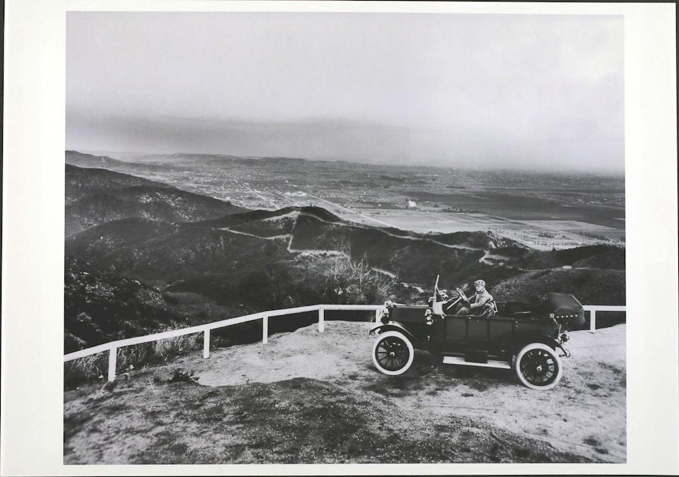 <p>Cars look very different these days — and so does that view of Los Angeles. This scenic shot was snapped at Laurel Canyon in Hollywood. About 63 years earlier, California wasn't even considered one of the United States. </p>