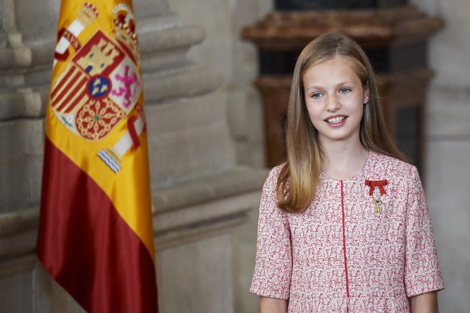 MADRID, SPAIN - JUNE 19:  Princess Leonor of Spain attends the