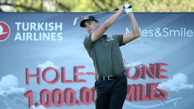 Justin Rose is just two shots behind leaders Matthias Schwab and Tom Lewis as he eyes a third consecutive Turkish Open triumph.