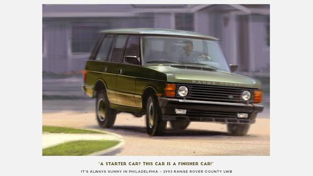 "<p>Probably the most cursed car in the history of automobiles, the <a href=""https://www.motor1.com/land-rover/"" rel=""nofollow noopener"" target=""_blank"" data-ylk=""slk:Land Rover"" class=""link rapid-noclick-resp"">Land Rover</a> Ranger Rover County LWB is as iconic as its scenes in <em>It's Always Sunny in Philadelphia</em>. It's actually evident in this poster, with Dennis Reynolds' unrelenting face. Well, the SUV didn't have a happy ending – a rather wet one, actually.</p>"