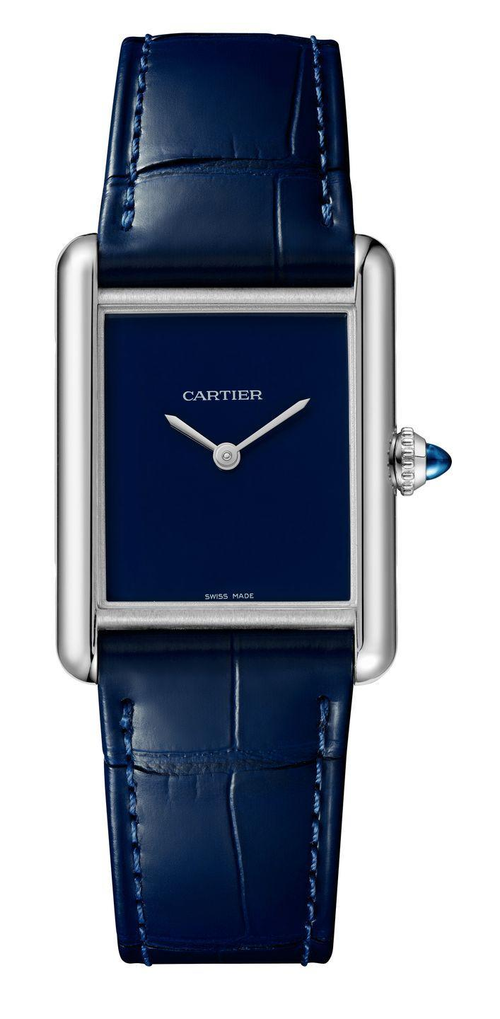 """<p>Quartz-powered and gloriously monochromatic, the colourful trio of watches in Cartier's Tank Must collection play on the jewellery house's classic design, which in turn pays homage to the very similar monochrome Must de Cartier watches from the 1980s. Think timeless avant-garde statement wristwear fit for a modern man. </p><p>From £2,250, <a href=""""https://www.cartier.com/en-gb/watches/collection-watches/tank/?"""" rel=""""nofollow noopener"""" target=""""_blank"""" data-ylk=""""slk:Cartier"""" class=""""link rapid-noclick-resp"""">Cartier</a>. </p>"""
