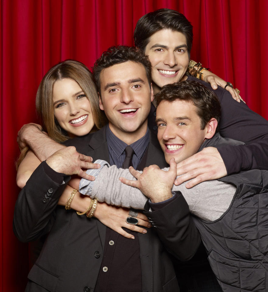 """<b>""""<a href=""""http://tv.yahoo.com/partners/show/48556"""">Partners</a>"""" (CBS) </b><br><br>As the newest member of CBS's rock-solid Monday comedy lineup, this sitcom about mismatched best friends, one gay and one straight, got a not-so-warm welcome. """"Partners"""" <a href=""""http://tv.yahoo.com/news/ratings-nbc-tops-monday-hawaii-five-0-hits-161000272.html"""">debuted to just 6.5 million viewers</a>, fourth in its timeslot and well behind its CBS colleagues """"How I Met Your Mother,"""" """"2 Broke Girls,"""" and """"Mike & Molly."""" Maybe CBS's audience isn't ready for a gay lead character in primetime… or maybe the show just isn't that good. <br><br><b>Prognosis: </b>Shaky at best. The ever-resilient """"Rules of Engagement"""" is waiting in the wings, so it might only be a few more weeks until we're forced to look at David Spade's mustache again."""