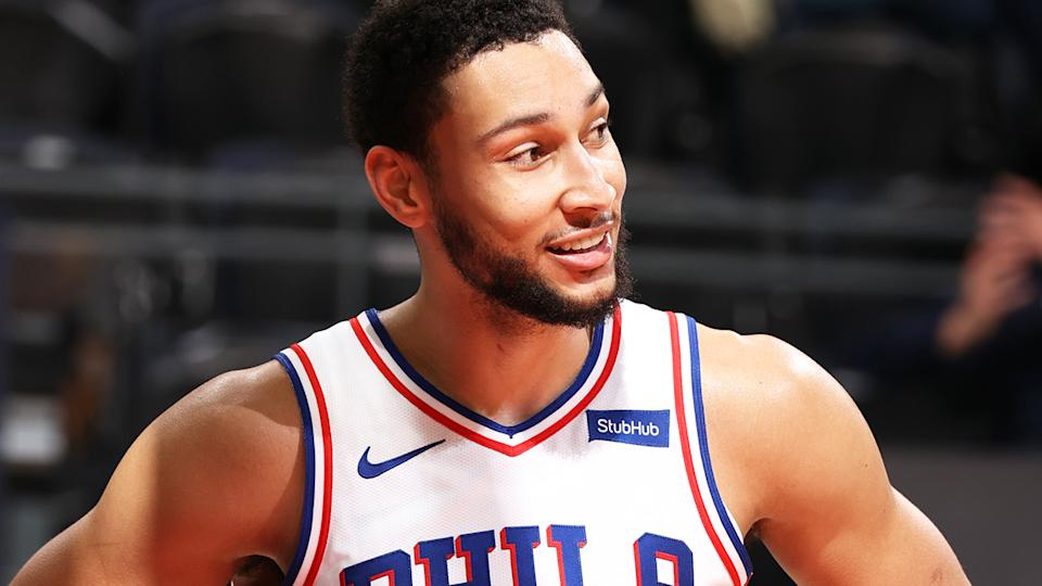 Ben Simmons set a new record for the most points for an Australian player in an NBA game with 42 in Philadelphia's losing effort against the Utah Jazz. (Photo by Melissa Majchrzak/NBAE via Getty Images)