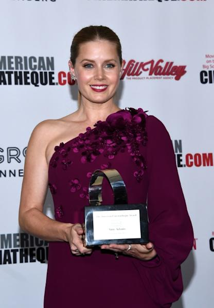 Amy Adams was presented with the American Cinematheque Award for 'making a significant contribution to the art of the motion picture'