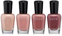 <p>If you love your muted pinks and mauves, the <span>ZOYA All Snuggled Up Quad</span> ($18) is a must-have!</p>