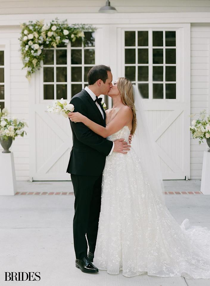 """<p>""""We were elated and so grateful that we didn't have to push our wedding and that we got to have the day of our dreams,"""" the actress told <em>Brides</em>. """"It was such a gift that we were able to share it with our friends and family.""""</p>"""