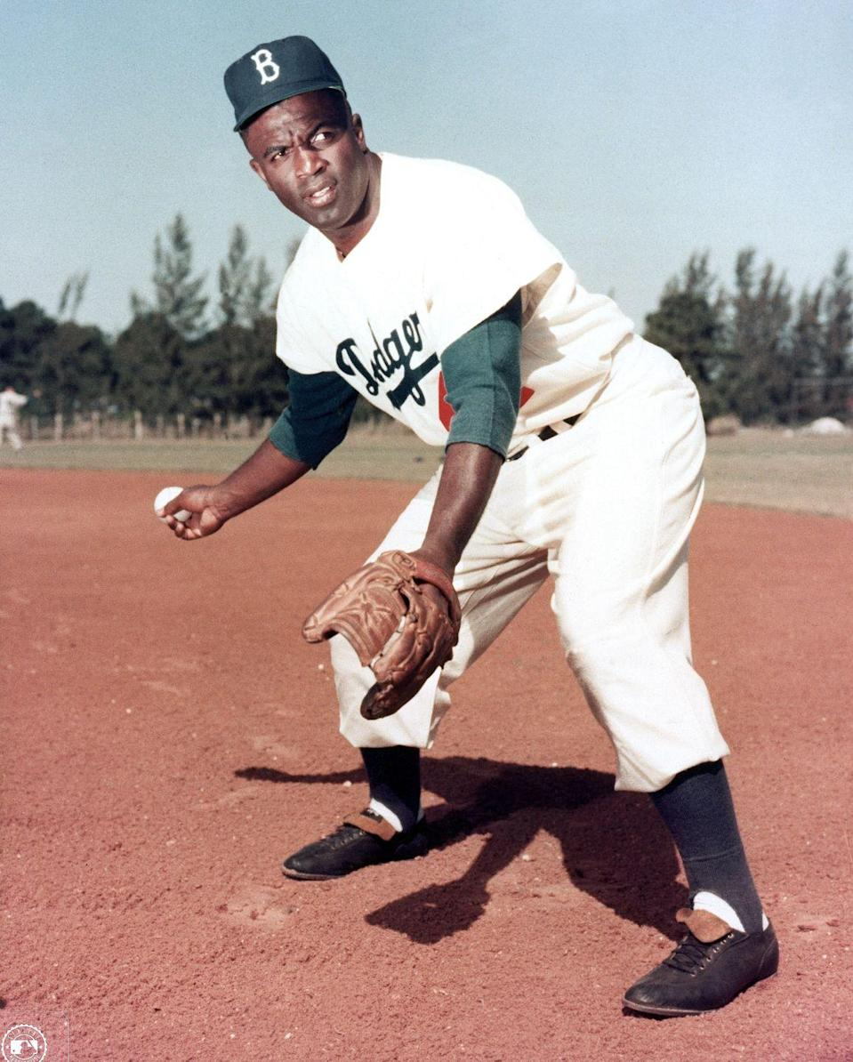 """<p>Jackie Robinson earned an athletic scholarship to the University of California in Los Angeles, where he <a href=""""http://bloomingtonalphas.com/history-of-alpha-phi-alpha/"""" rel=""""nofollow noopener"""" target=""""_blank"""" data-ylk=""""slk:joined Alpha Phi Alpha"""" class=""""link rapid-noclick-resp"""">joined Alpha Phi Alpha</a>. He was an active member <a href=""""https://www.biography.com/athlete/jackie-robinson"""" rel=""""nofollow noopener"""" target=""""_blank"""" data-ylk=""""slk:until he was forced to drop out"""" class=""""link rapid-noclick-resp"""">until he was forced to drop out</a> just shy of graduation. </p>"""