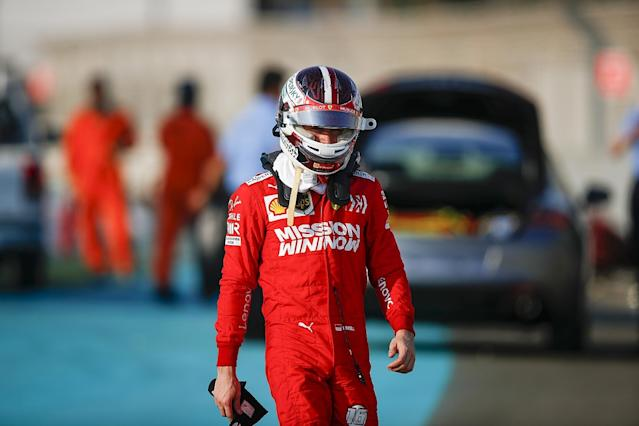 Russell fastest for Mercedes as Leclerc crashes
