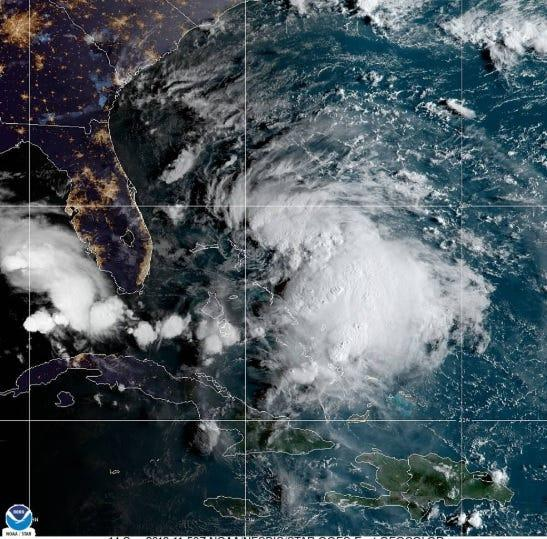 Tropical Storm Humberto likely to become a hurricane after skirting Bahamas