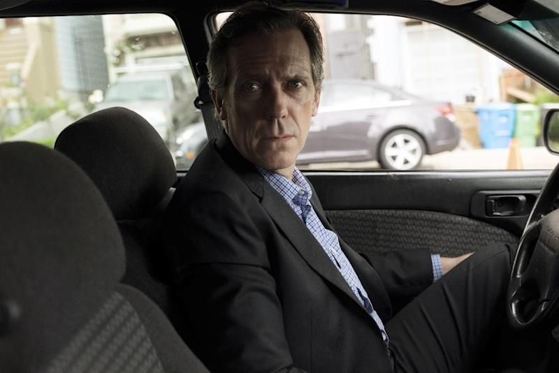 "In this image released by Hulu, Hugh Laurie portrays forensic psychiatrist Eldon Chance in a scene from the new 10-episode series, ""Chance."" (David Moir/Hulu via AP)"