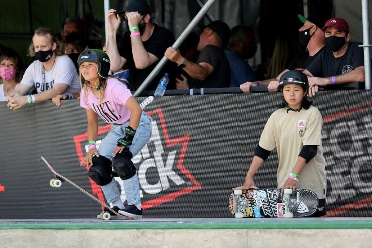 Sky Brown (L) is the reigning X Games champion