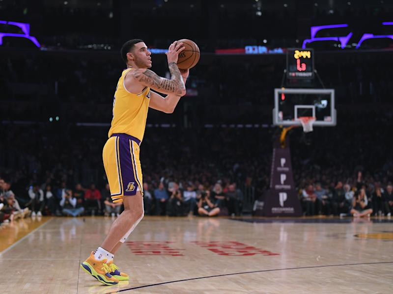 Lonzo Ball will remain in the starting lineup for the Los Angeles Lakers  even though point guard Rajon Rondo is back from his three game suspension. 028d842f2