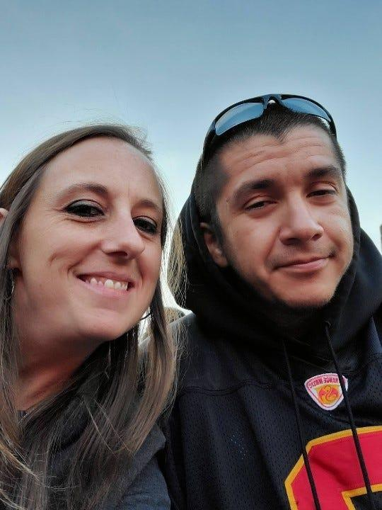 Heather Surovik and Nicholas Atencio lived in their car in a safe parking lot program in Longmont, Colo., before finding permanent housing late last year.