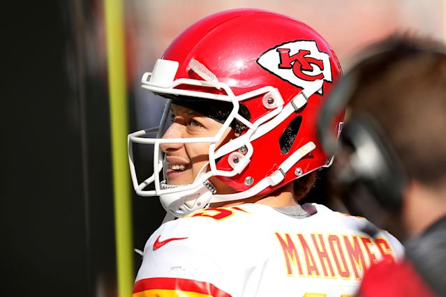 Patrick Mahomes, in his second NFL season, has the look of an MVP. (Getty Images)