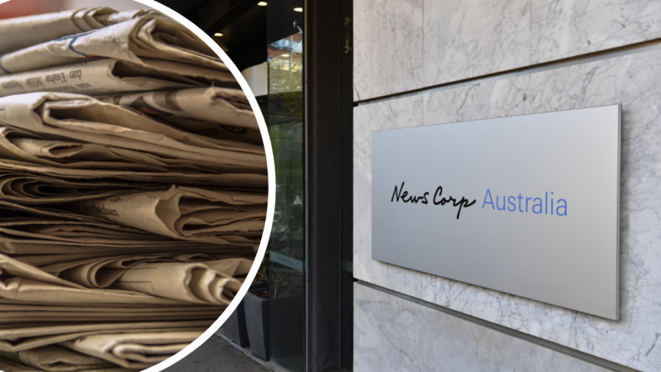 News Corp will stop printing more than 100 papers. Images: Getty, AAP