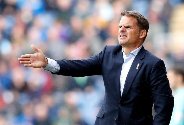 De Boer was sacked by Palace the day after his last match ended in a 1-0 defeat at Burnley