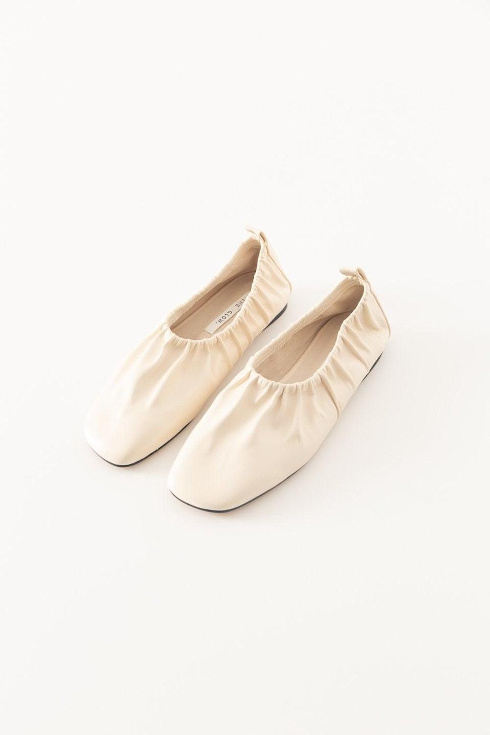 "Because they keep hinting at <a href=""https://www.refinery29.com/en-us/best-ballet-flats"" rel=""nofollow noopener"" target=""_blank"" data-ylk=""slk:the Khaite pair"" class=""link rapid-noclick-resp"">the Khaite pair</a> but you can't spend <a href=""https://www.ssense.com/en-us/women/product/khaite/black-the-ashland-ballerina-flats/5371771"" rel=""nofollow noopener"" target=""_blank"" data-ylk=""slk:$660"" class=""link rapid-noclick-resp"">$660</a> on a holiday gift. <br><br><strong>Pêche</strong> Lea Flats, $, available at <a href=""https://go.skimresources.com/?id=30283X879131&url=https%3A%2F%2Fshop-peche.com%2Fcollections%2Fshoes%2Fproducts%2Flea"" rel=""nofollow noopener"" target=""_blank"" data-ylk=""slk:Pêche"" class=""link rapid-noclick-resp"">Pêche</a>"