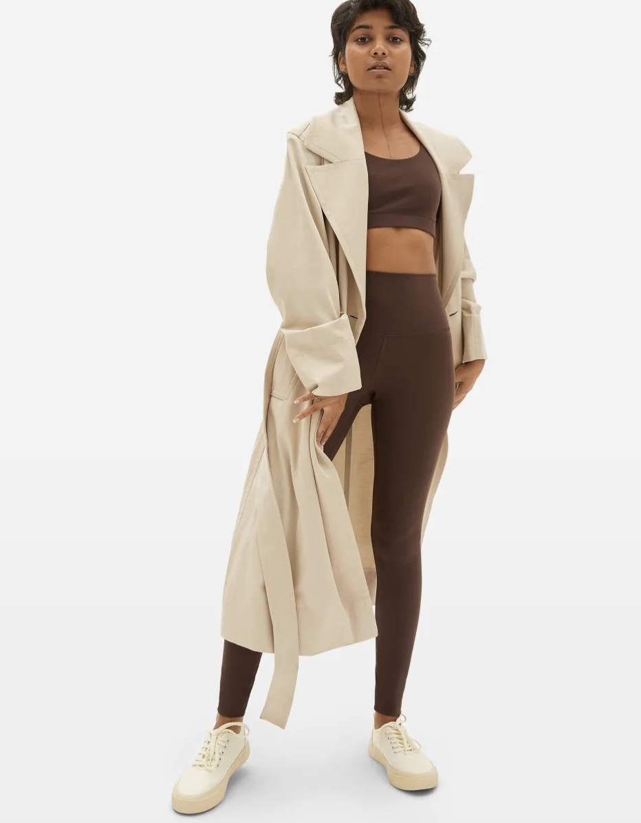 """<em>Glamour</em> editors <a href=""""https://www.glamour.com/story/everlane-perform-leggings-review?mbid=synd_yahoo_rss"""" rel=""""nofollow noopener"""" target=""""_blank"""" data-ylk=""""slk:tried these Everlane leggings"""" class=""""link rapid-noclick-resp"""">tried these Everlane leggings</a> when they first dropped last February, and they've been on heavy rotation for the team ever since. Our wellness editor describes them as """"lighter than air with a good amount of elasticity."""" $58, Everlane. <a href=""""https://www.everlane.com/products/womens-perform-legging-chocolate"""" rel=""""nofollow noopener"""" target=""""_blank"""" data-ylk=""""slk:Get it now!"""" class=""""link rapid-noclick-resp"""">Get it now!</a>"""