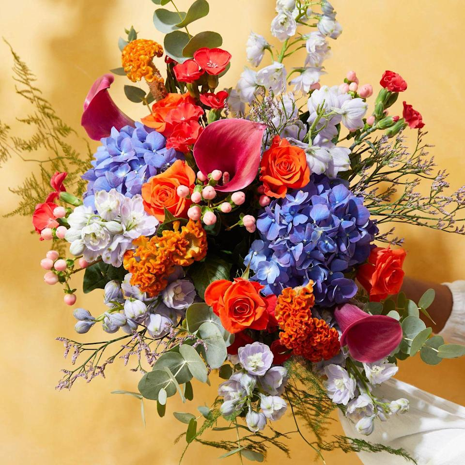 """<p>This statement-maker is full of unexpected orange roses and bold blue hydrangeas. It makes the most romantic surprise.</p><p><a class=""""link rapid-noclick-resp"""" href=""""https://go.redirectingat.com?id=127X1599956&url=https%3A%2F%2Fwww.bloomandwild.com%2Fsend-flowers%2Fsend%2Fthe-toyin-ht%2F3523&sref=https%3A%2F%2Fwww.housebeautiful.com%2Fuk%2Flifestyle%2Fshopping%2Fg35318824%2Fbloom-wild-valentines-day-red-roses%2F"""" rel=""""nofollow noopener"""" target=""""_blank"""" data-ylk=""""slk:BUY NOW"""">BUY NOW</a></p>"""
