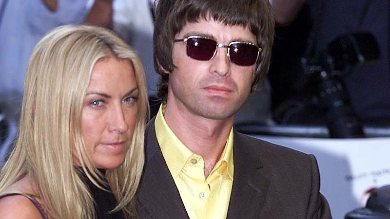 Noel Gallagher and Meg Matthews arrive at the London premiere of Snatch in 2000, in London West End. Credit: HUGO PHILPOTT/AFP/Getty Images