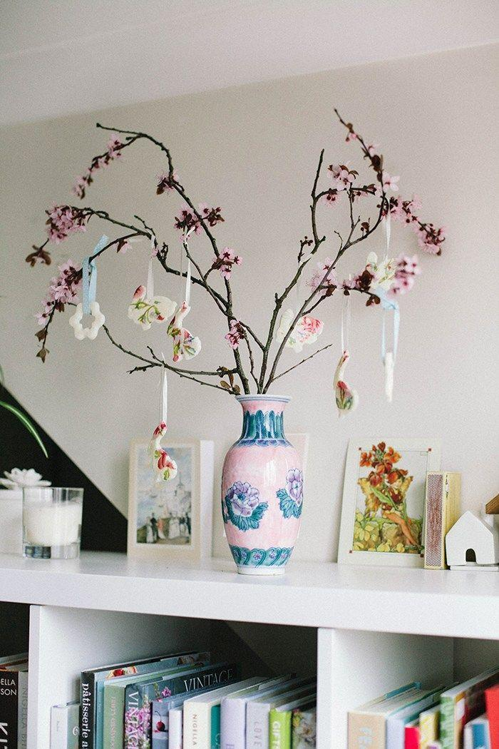"""<p>These decoupaged bunny ornaments would look cute hanging anywhere, but they're especially lovely paired with cherry blossom branches. All you need to make them is some clay or <a href=""""https://www.countryliving.com/diy-crafts/g4965/salt-dough-ornament-ideas/"""" rel=""""nofollow noopener"""" target=""""_blank"""" data-ylk=""""slk:salt dough"""" class=""""link rapid-noclick-resp"""">salt dough</a> and a cookie cutter. </p><p><strong>Get the tutorial at <a href=""""http://wallflowerkitchen.com/diy-cherry-blossom-easter-tree-ornaments/"""" rel=""""nofollow noopener"""" target=""""_blank"""" data-ylk=""""slk:Wallflower Kitchen"""" class=""""link rapid-noclick-resp"""">Wallflower Kitchen</a>.</strong></p><p><a class=""""link rapid-noclick-resp"""" href=""""https://www.amazon.com/Easter-Bunny-Cookie-Cutter-Pieces/dp/B082R1RZYN/ref=sr_1_1_sspa?tag=syn-yahoo-20&ascsubtag=%5Bartid%7C10050.g.26498744%5Bsrc%7Cyahoo-us"""" rel=""""nofollow noopener"""" target=""""_blank"""" data-ylk=""""slk:SHOP BUNNY COOKIE CUTTERS"""">SHOP BUNNY COOKIE CUTTERS </a></p>"""