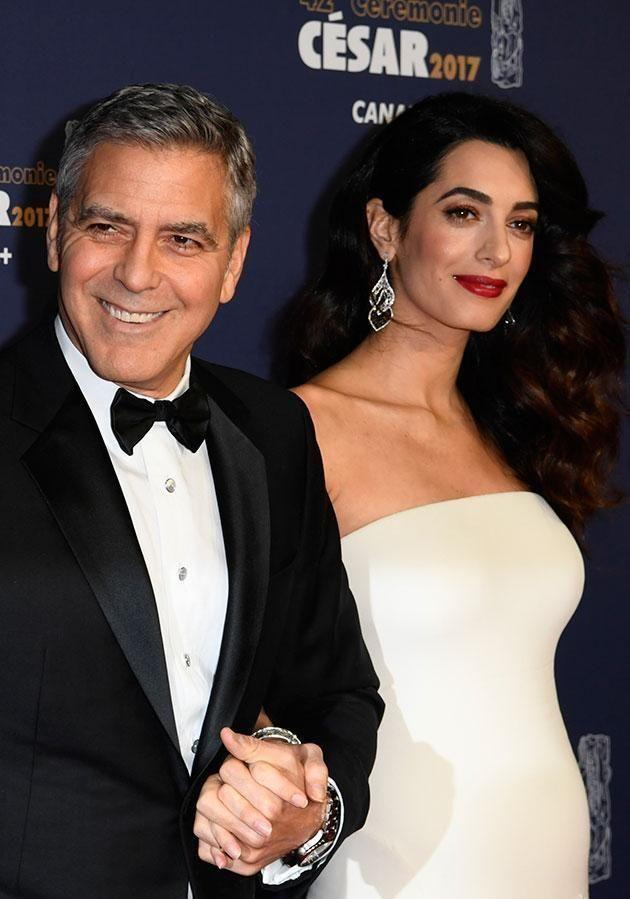 George and Amal were eagerly awaiting the birth of their twins. Source: Getty